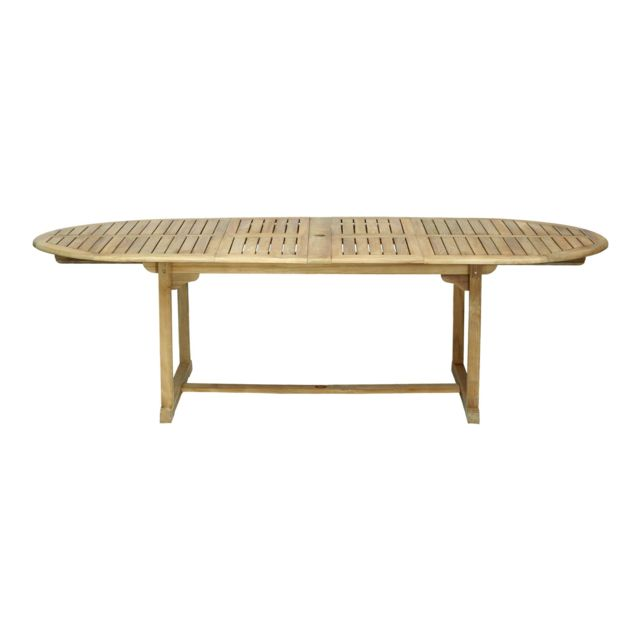Alinéa - Tana Table de jardin extensible en teck massif 10 places ...