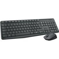Logitech - Clavier avec pavé numérique + souris - Mk235 - Noir