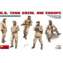 Miniart - Figurines 2ème Guerre Mondiale : Equipage de blindé Us Europe Nord Ouest, 1944-1945