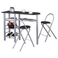 Table catalogue haute noir Carrefour 2019RueDuCommerce E2IDH9