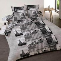 Dourev - Housse de couette 200x200cm Ny Sightseeing + 2 taies