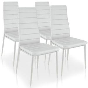 menzzopremium lot de 4 chaises stratus blanc pas cher achat vente chaises rueducommerce. Black Bedroom Furniture Sets. Home Design Ideas
