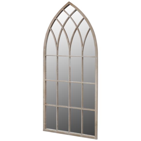 Rocambolesk - Superbe Miroir de Jardin Arche rustique 115 x 50 cm Intérieur et Extérieur Neuf