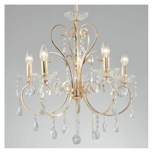 kosilum - lustre cristal doré - pavia - pas cher achat / vente