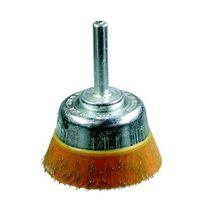 Osborn - Brosse coupe, fil acier laitonné ondulé enrobé avec tige de 6 mm 930 821-7002