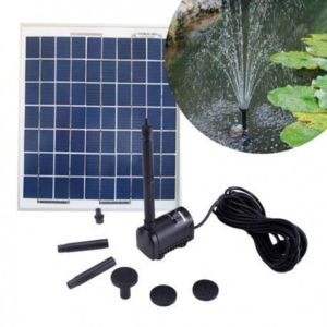 Sellande pompe solaire pour bassin 200l h avec panneau for Pompe solaire pour bassin exterieur