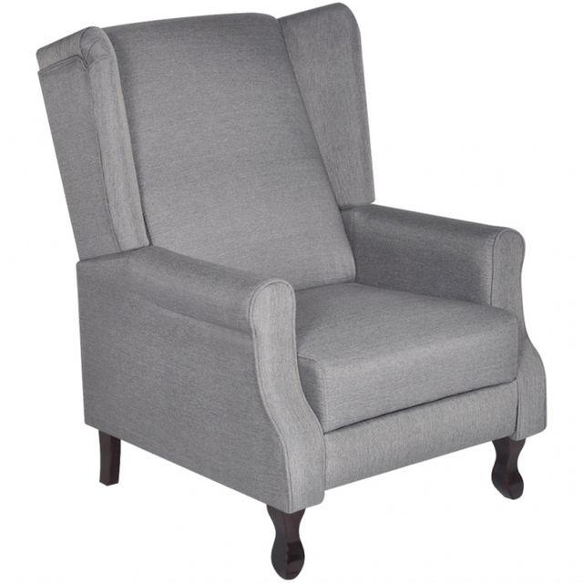 Casasmart Fauteuil gris confort ajustable