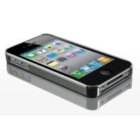 Caseink - Coque iPhone 4S / 4 Deluxe Finition Chrome & Aluminium Brossé Violet