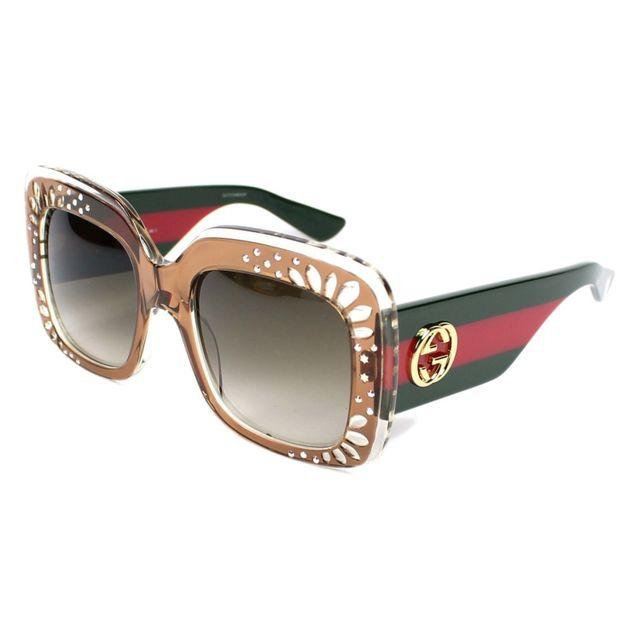 Gucci - Gg 3862 S Yl5DB Marron - Vert - Lunettes de soleil - pas cher Achat    Vente Lunettes Mouche - RueDuCommerce d1b43f59c7d4