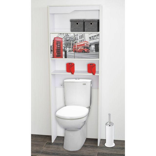marque generique meuble wc en bois avec 2 portes motifs longueur 63 cm nalto london nc pas cher achat vente colonne de salle de bain