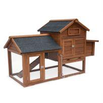 Poulailler en bois GALINETTE, cage à poule de 151x69,5x92,5cm