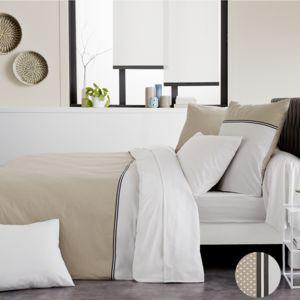 origin taie d 39 oreiller louise en lyocell taupe 50 x 70 cm pas cher achat vente taies d. Black Bedroom Furniture Sets. Home Design Ideas