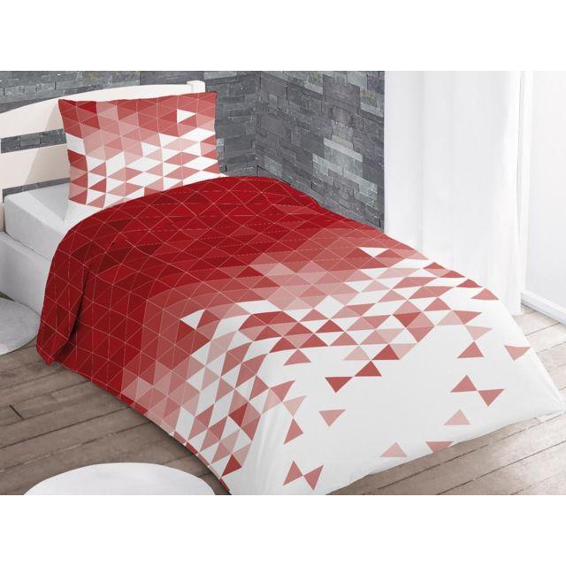 intemporel parure housse de couette 140x200 cm try rouge 140cm x 200cm pas cher achat. Black Bedroom Furniture Sets. Home Design Ideas