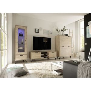 envie de meubles meuble tv ch ne clair mallorca 156 cm. Black Bedroom Furniture Sets. Home Design Ideas