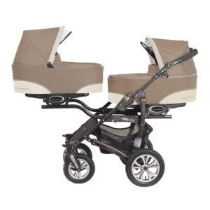 autre poussette duo ou trio twinny pour jumeaux beige 2 poussettes n a pas cher achat. Black Bedroom Furniture Sets. Home Design Ideas