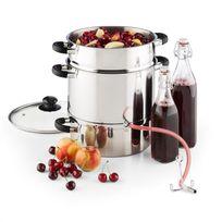 KLARSTEIN - Applebee Extracteur de jus électrique à vapeur 1500w 8 litres inox