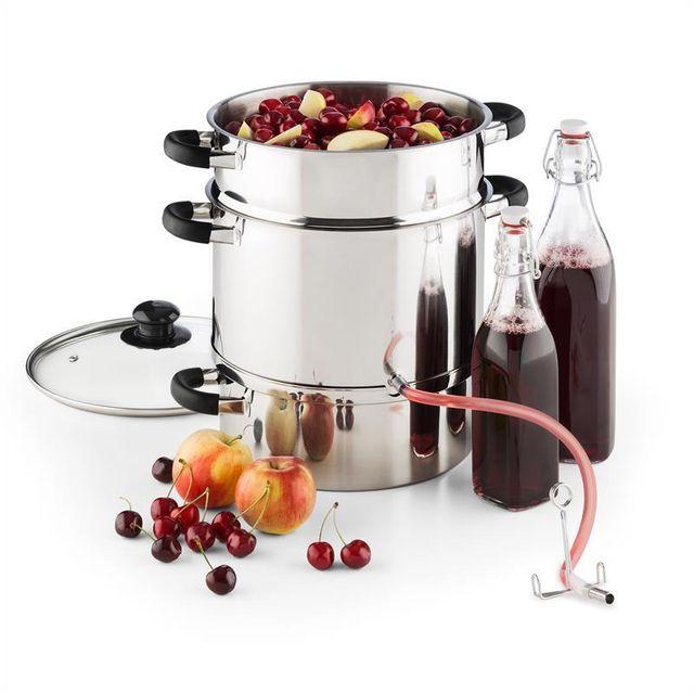 KLARSTEIN Applebee Extracteur de jus électrique à vapeur 1500w 8 litres inox