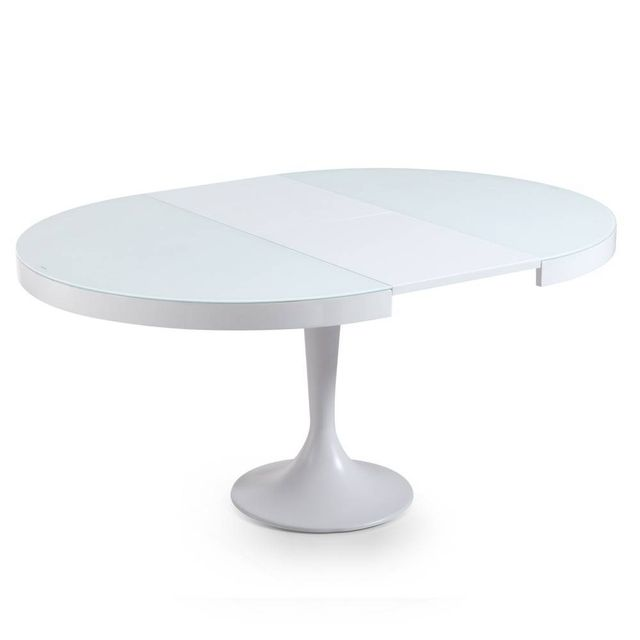 Charmant Inside 75   Table Ronde Extensible Tulipe Blanche
