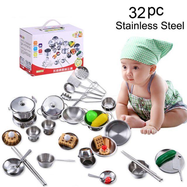 Generic 32pcs Set Kids Play Maison Cuisine Jouets Batterie De