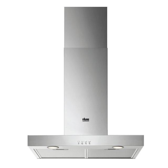 FAURE hotte décorative 60cm 51db 600m3/h inox - fhb62671xa
