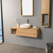 wanda collection meuble salle de bain suspendu teck milo 100 plus que 5 articles