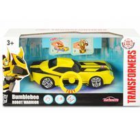Majorette - Voiture transformable en robot Transformers Warrior : Bumblebee