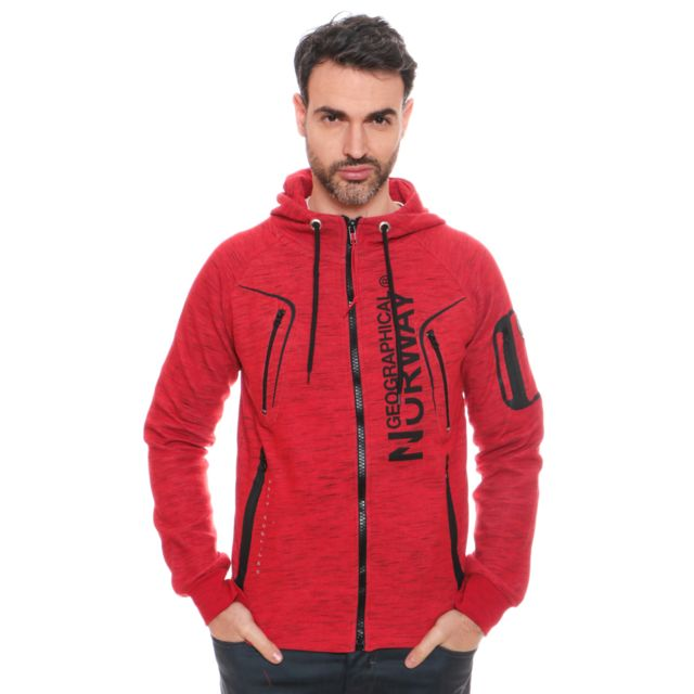 Geographical Norway Sweat à Capuche Gantaga Rouge pas
