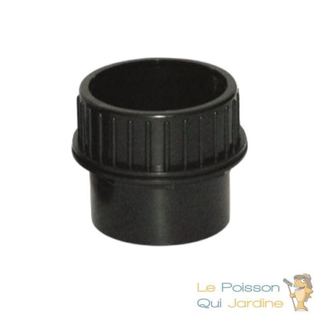 Le Poisson Qui Jardine Mix De 2 Passe-Parois, à Visser 40 mm + Vis Inox 63 mm, Pvc , Pour Bassins