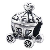 So Chic Bijoux Charm Perle Carrosse Coeur Princesse Cendrillon Argent 925 Compatible Pandora Trollbeads Chamilia Biagi