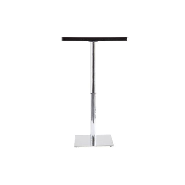 Miliboo Table de bar noire carrée Jack