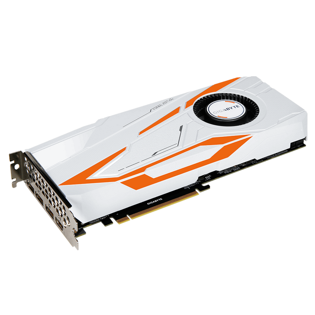 GIGABYTE GeForce GTX 1080Ti TURBO 11Go GeForce® GTX 1080 Ti - 11010 MHz - 16 nm - 11 GB - GDDR5 - PCI-E 3.0 x 16