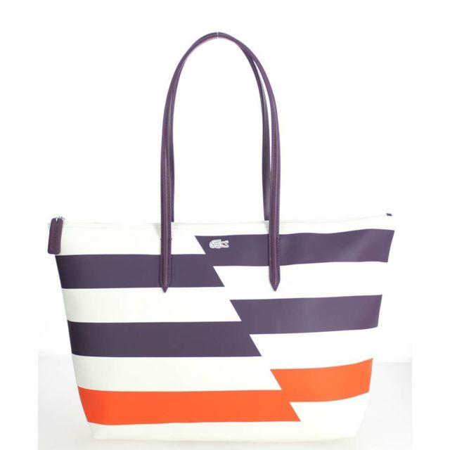détaillant 0b2b4 487a6 Lacoste - Grand sac cabas L.12.12 Flash Orange.com - pas ...