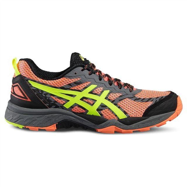 99b1892770c7c1 Asics - Chaussures FujiTrabuco 5 Gel Orange-Gris Femme - pas cher Achat / Vente  Chaussures running - RueDuCommerce