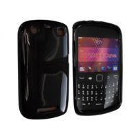 Nzup - Housse Softygel noire glossy Blackberry Curve 9360 9370