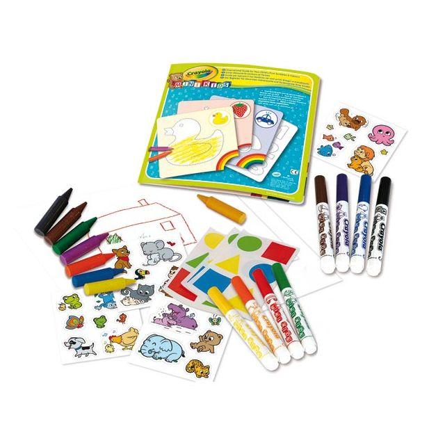 Crayola Mini Kids - Coffret Coloriage et Gomettes