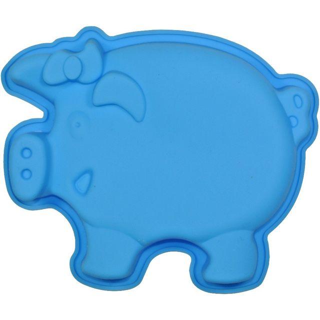 Promobo Moule à Gateau en silicone Cochon Forme Ludique Animal Bleu