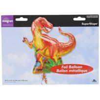 Party2u - Ballon Fleuret Dinosaure GÉANT DÉGONFLÉ