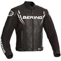 Bering - blouson moto Sting-r cuir homme Racing toutes saisons noir-blanc Bcb090 3XL