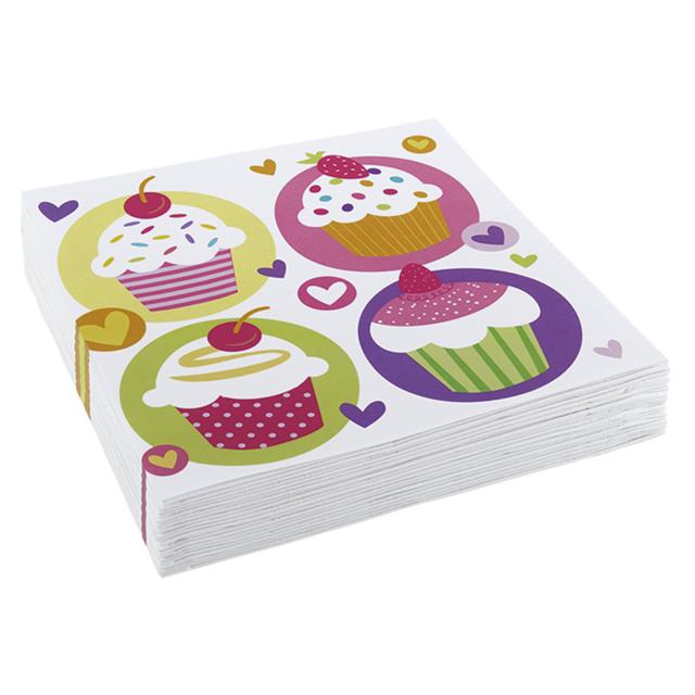 Amscan - 20 serviettes en Papier Cupcake