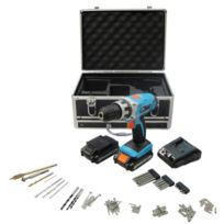 Work Men - Coffret perceuse 14.4V +2 batteries Lithium +77 accessoires