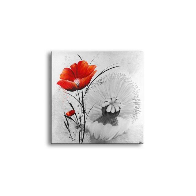 deco soon tableau peinture rose rouge pas cher achat vente tableaux peintures rueducommerce. Black Bedroom Furniture Sets. Home Design Ideas
