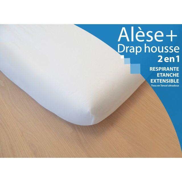 kadolis al se drap housse 2 en 1 pour lit b b 60x120 cm blanc pas cher achat vente. Black Bedroom Furniture Sets. Home Design Ideas