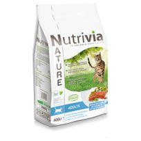 Nutrivia - Nature - Croquettes au Thon Saumon et Hareng pour Chat Adulte - 400g