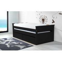 Abc Meubles - Lit Gigogne Maxi 90 x 200cm + tiroirs