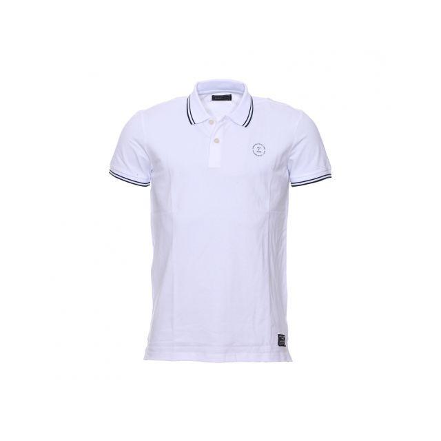 Jack Jones - Polo Jack   Jones en coton stretch blanc - pas cher ... 9ed536f9c306
