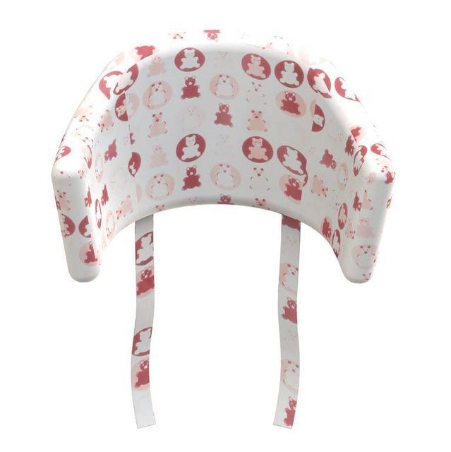 Flexa Coussin chaise haute Teddy Baby - rose