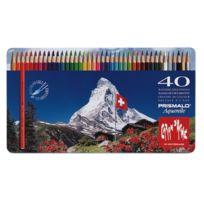 Caran d-Ache - Caran D'ACHE Prismalo Crayons De Couleur Aquarelle Assortiment De Couleurs Lot De 40
