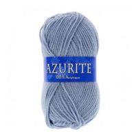 6378ee12b14c Sans - Pelote de laine Azurite 100% Acrylique Tricoter - Bleu Gris - 3072 -