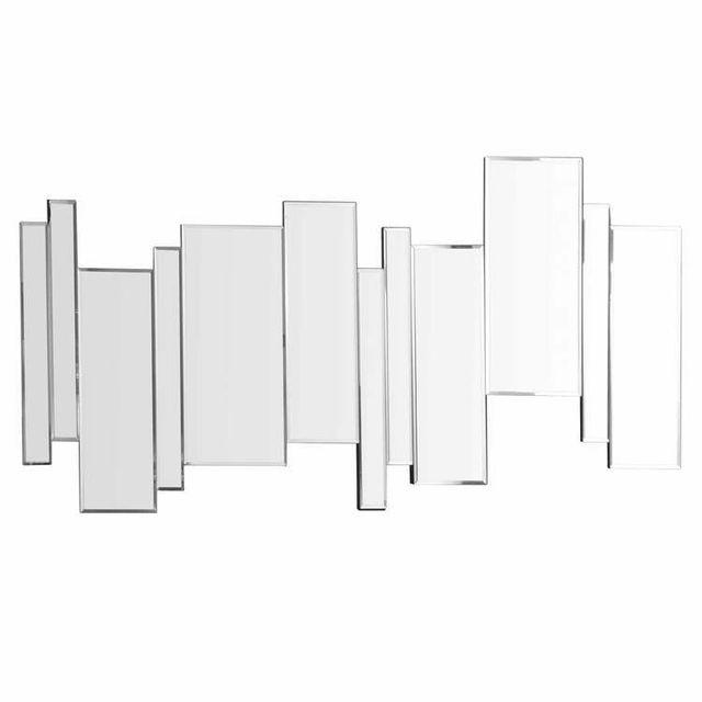 Emde Miroir sans contour barre décalée 100x50cm Axel