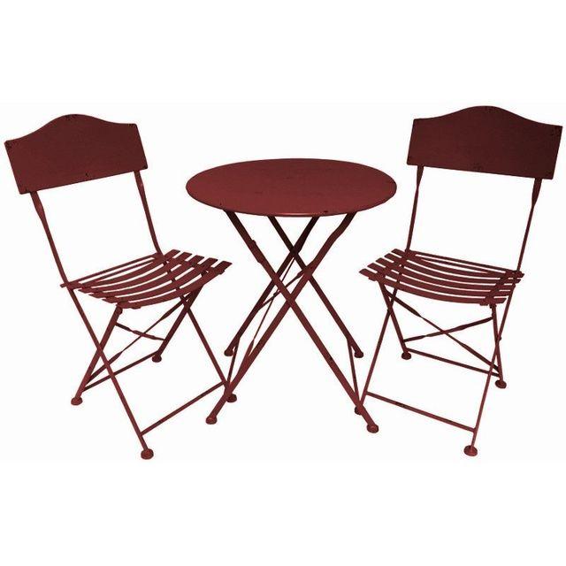 Chemin De Campagne - Salon de Jardin Bistrot Chaise Table de Jardin ...